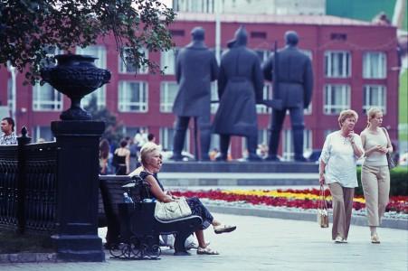 Lenjinov Trg u Novosibirsku dan prije pomrčine