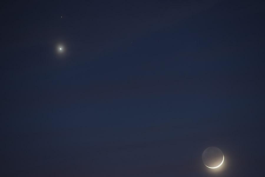 Mjesec i planeti. Nikon D600 (full frame) + 300mm teleobjektiv.